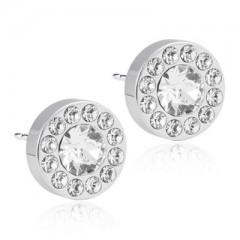 Blomdahl Uhani Brilliance Halo Crystal Swarovski 8mm