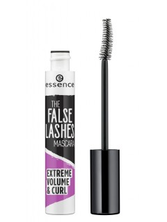 essence Črna maskara za volumen the false lashes extreme volume & curl