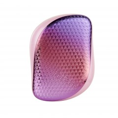 Tangle Teezer Compact Styler Detangling Hairbrush - Peach Pink Textured Mermaid