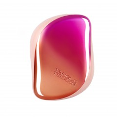 Tangle Teezer Compact Styler Detangling Hairbrush - Peach Pink Ombre Chrome